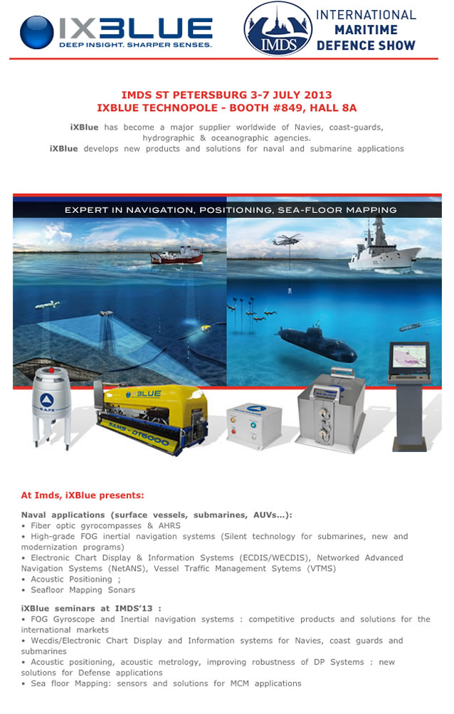 iXBlue has maintained a presence in Russia for more than ten years with great many successes in numerous fields: oceanographic research, offshore oil, subsea geophysics and aeronautics.