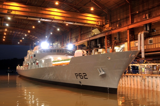 The second of the Offshore Patrol Vessels (OPVs) being built by Babcock for the Irish Naval Service, LÉ James Joyce, was floated for the first time yesterday, at Babcock's Appledore shipyard in North Devon, marking a significant milestone in the build programme.
