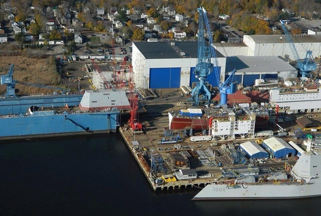 The future USS Michael Monsoor (DDG 1001), completed the successful lift and integration of the deckhouse on to the ship's hull at General Dynamics' Bath Iron Works (BIW) shipyard Nov.14. The Michael Monsoor will be the second ship of the DDG 1000 Zumwalt class, the U.S. Navy's next generation destroyer. Deckhouse integration is a major milestone for the ship and the DDG 1000 program.