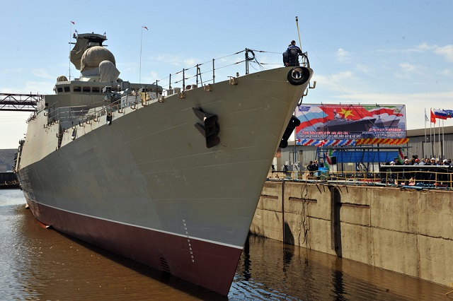 The third Project 11661 Gepard-3.9-class frigate designed for the Vietnamese Navy has been solemnly put afloat at the Zelenodolsk Shipyard in Tatarstan in the Volga area, a TASS correspondent reports from the scene.