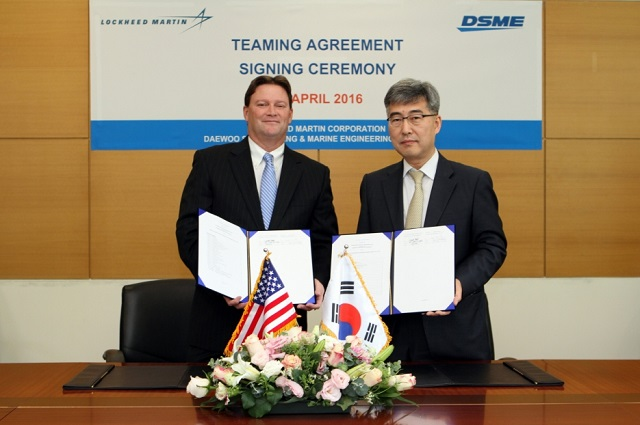 Lockheed Martin and Daewoo Shipbuilding & Marine Engineering (DSME) have signed a comprehensive teaming agreement to partner on the Multi-mission Combat Ship (MCS), which is based on a DSME hull design and intended for the corvette market.