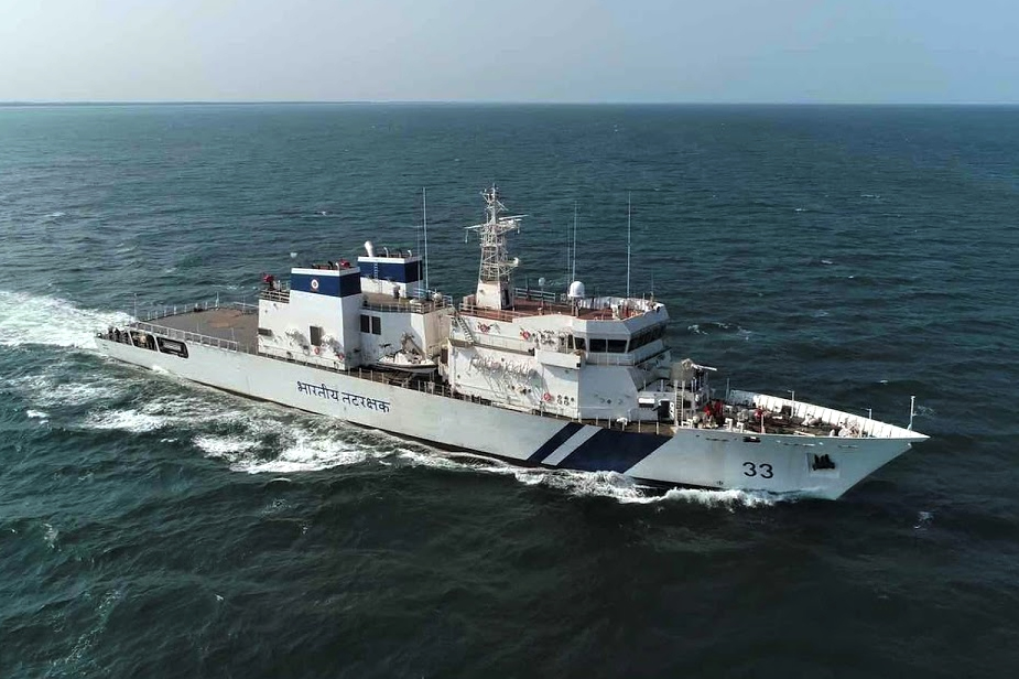 LT Launches Third Vikram class OPV for Indian Coast Guards