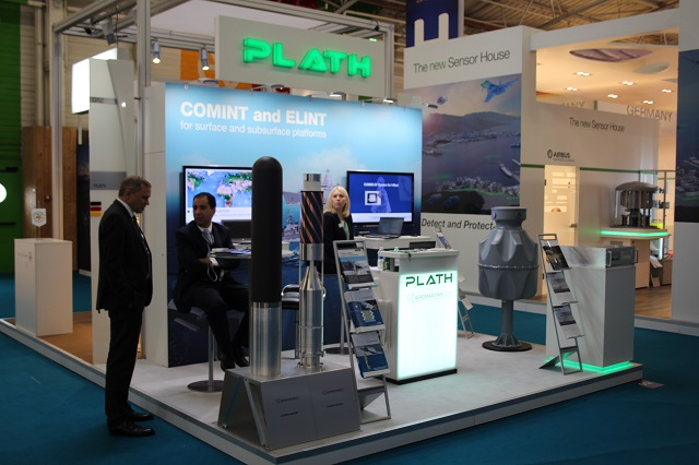 The German companies Plath and Aeromaritime present their combined solution at Euronaval 2016