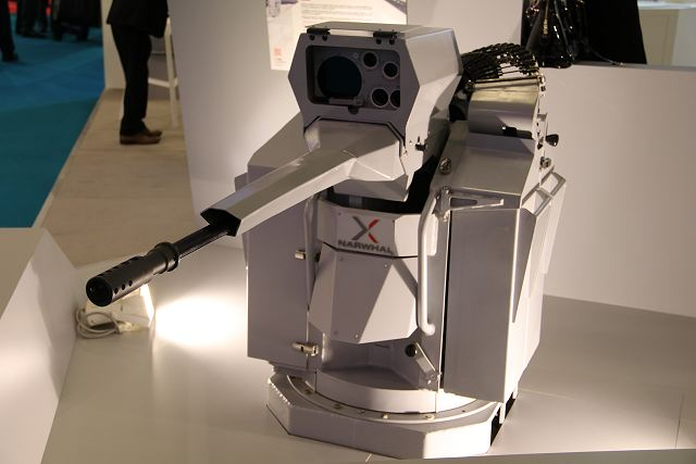 Nexter from France presents NARWHAL remotely operated 20mm gun turret at Euronaval 2016 640 001
