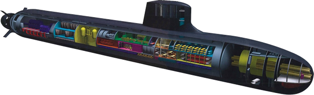 Barracuda class nuclear-powered attack submarine (SSN) - French Navy